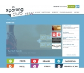 Le Sporting Club: Création Site internet (www.lesporting.club)